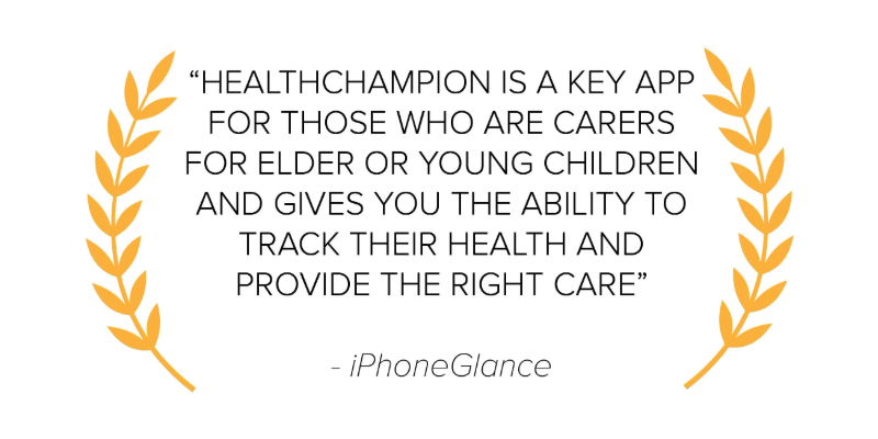 iPhoneGlance HealthChampion